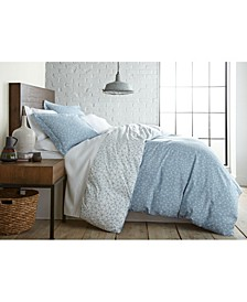 Geometric Maze Printed Reversible Duvet Cover and Sham Set, King