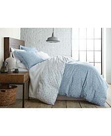 Southshore Fine Linens Geometric Maze Printed Reversible Duvet Cover and Sham Set, King