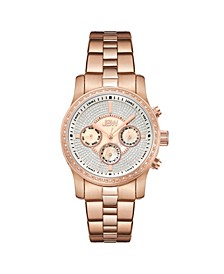Women's Vixen Diamond (3/8 ct.t.w.) 18K Rose Gold Plated Stainless Steel Watch