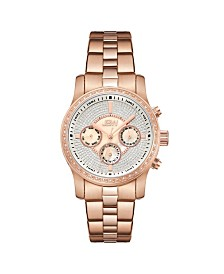 JBW Women's Vixen Diamond (3/8 ct.t.w.) 18K Rose Gold Plated Stainless Steel Watch