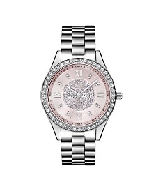 JBW Women's Mondrian Diamond (1/6 ct.t.w.) Stainless Steel Watch