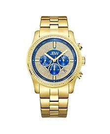 Men's Vanquish Diamond (3/8 ct.t.w.) 18k Gold Plated Stainless Steel Watch