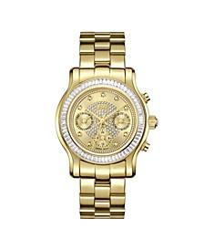Women's Laurel Diamond (1/10 ct.t.w.) 18k Gold Plated Stainless Steel Watch