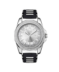 JBW Men's Regal Diamond (1/6 ct.t.w.) Stainless Steel Watch