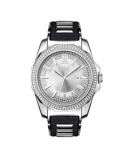 Jbw Men's Regal Diamond (1/6 ct.t.w.) Stainless Steel Watch