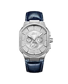 JBW Men's Orion Diamond (1/8 ct.t.w.) Stainless Steel Watch