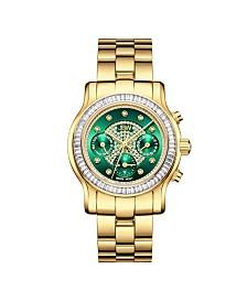 JBW Women's Laurel Diamond (1/10 ct.t.w.) 18k Gold Plated Stainless Steel Watch
