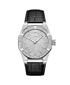 JBW Men's Apollo Diamond (1/10 ct.t.w.) Stainless Steel Watch