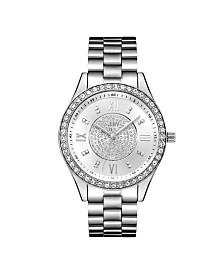 JBW Women's Mondrian Jewelry Set Diamond (1/6 ct.t.w.) Stainless Steel Watch