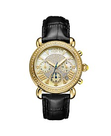 JBW Women's Victory Diamond (1/6 ct.t.w.) 18k Gold Plated Stainless Steel Watch