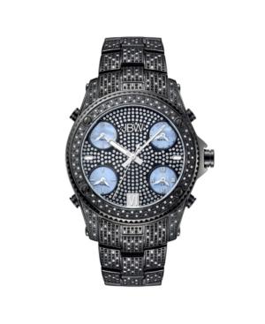 Jbw Men's Jet Setter Diamond (2 ct.t.w.) Black Ion-Plated Stainless Steel Watch
