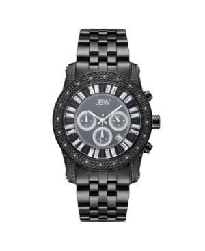 Jbw Men's Krypton Diamond (1/5 ct.t.w.) Black Ion-Plated Stainless Steel Watch