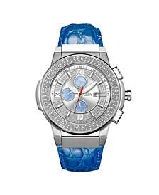 Men's Saxon Diamond (1/6 ct.t.w.) Stainless Steel Watch