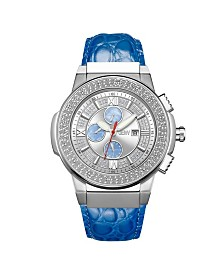 JBW Men's Saxon Diamond (1/6 ct.t.w.) Stainless Steel Watch
