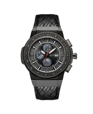 Jbw Men's Saxon Diamond (1/6 ct.t.w.) Black Ion-Plated Stainless Steel Watch