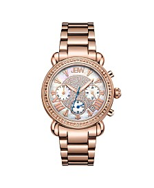 JBW Women's Victory Diamond (1/6 ct.t.w.) 18K Rose Gold Plated Stainless Steel Watch