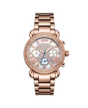 Women's Victory Diamond (1/6 ct.t.w.) 18K Rose Gold Plated Stainless Steel Watch