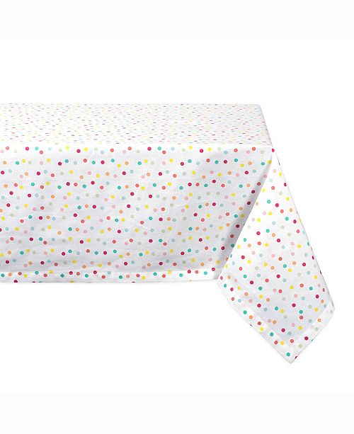 "Design Import Multi Polka Dots Print Table cloth 60"" X 120"""