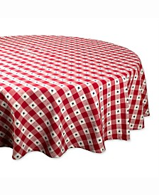 "Star Check Table cloth 70"" Round"