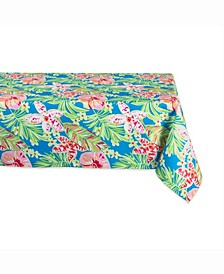 "Summer Floral Outdoor Table cloth 60"" X 84"""