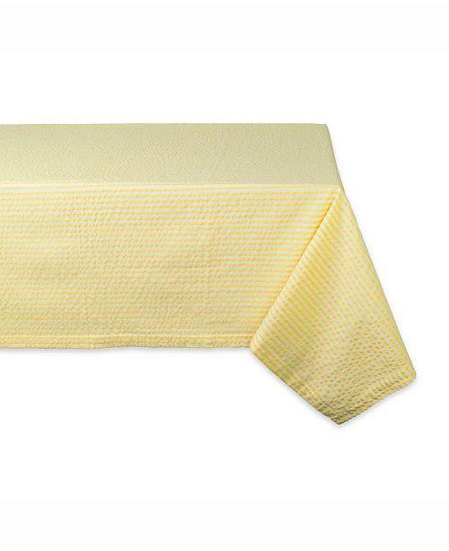 """Design Import Seersucker Table cloth 60"""" X 104"""""""