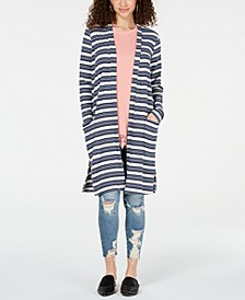 Juniors' Rib-Knit Duster Cardigan