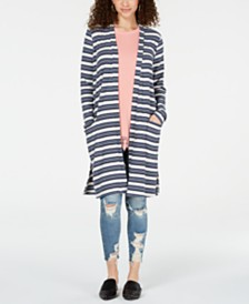 Hippie Rose Juniors' Rib-Knit Duster Cardigan