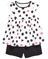 e85ea5cce32fa0 First Impressions Baby Girls Printed Tunic & Cotton Eyelet Shorts, Created  for Macy's