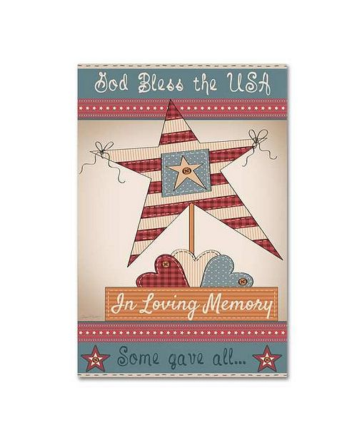 "Trademark Global Jean Plout 'In Loving Memory' Canvas Art - 32"" x 22"" x 2"""