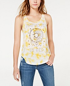 Juniors' Namaste In Bed Tie-Dye Tank Top