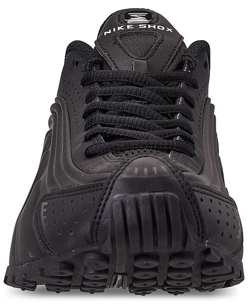 sale retailer 13636 33ccd ... Nike Boys  Shox R4 Casual Sneakers from Finish ...