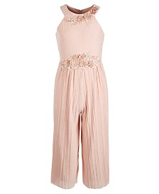 Beautees Big Girls Pleated Jumpsuit