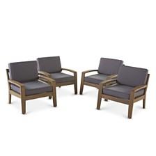 Grenada Outdoor Club Chair, Quick Ship (Set of 4)