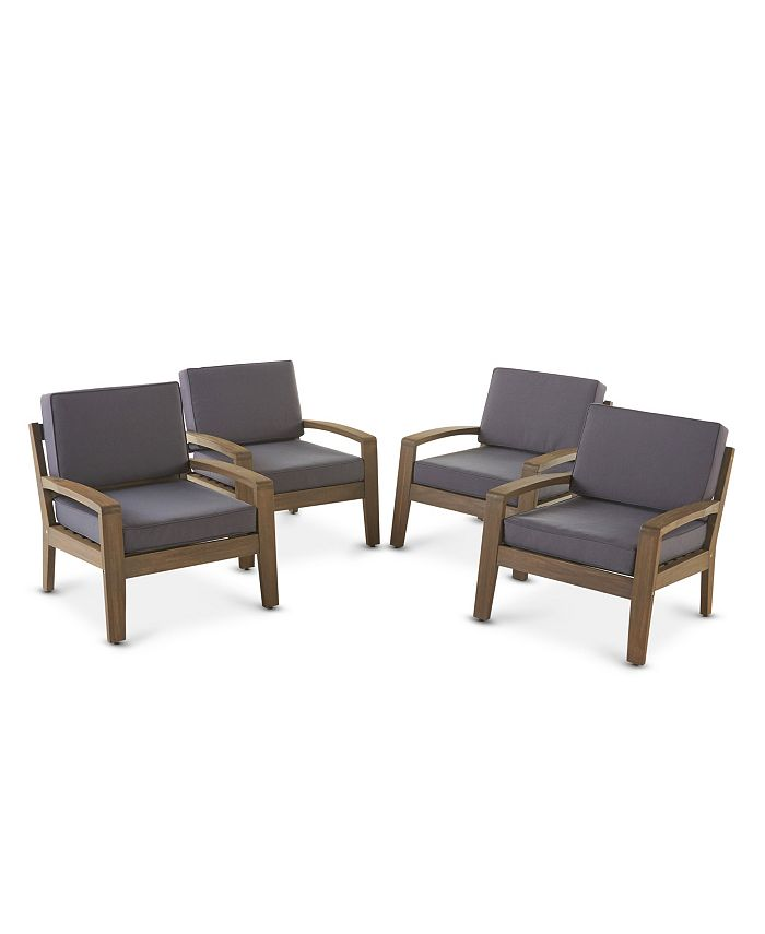 Noble House - Grenada Outdoor Club Chair (Set of 4)
