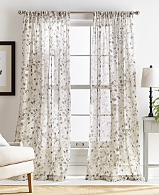 Martha Stewart Annabelle Pole Top Curtain Panel Collection