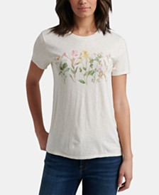 Lucky Brand Floral Banner Graphic T-Shirt