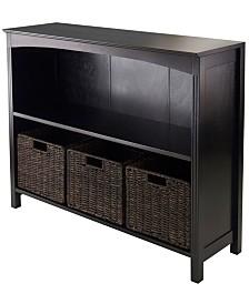 Winsome 4Pc Storage 3-Tier Shelf with 3 Small Baskets