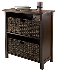 Granville 3-Pc Storage Shelf with 2 Foldable Baskets