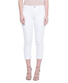 Marley Girlfriend In Stretch White Denim with Destruct Detail