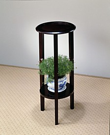 Irvine Round Plant Stand Table with Bottom Shelf