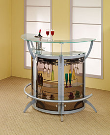 Milford Bar Units with Bottle Wine Rack (Set Of 3)
