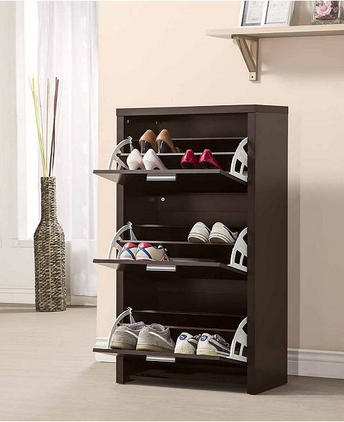 Tulsa 3 Drawer Tall Shoe Cabinet