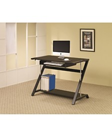 Hartford Computer Desk with Bottom Shelf