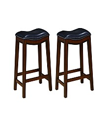 Bodie Backless Counter Height Stools with Nailhead Accents (Set of 2)