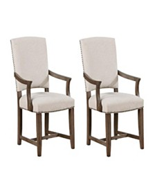 Berry Upholstered Arm Chairs (Set of 2)