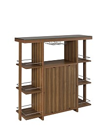 Ambros Bar Unit with Wine Bottle Storage