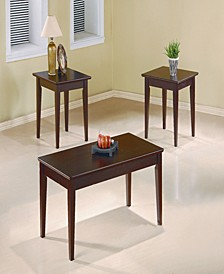 Aleandro 3-Piece Occasional Table Set with Tapered Legs