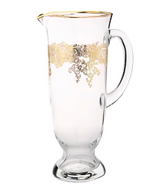Classic Touch Water Pitcher with 24K Rich Gold Design