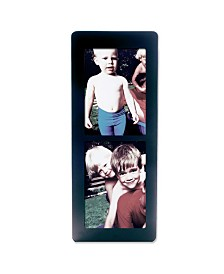 """Lawrence Frames Black Wood Multi Double Vertical Picture Frame - 5"""" x 7"""""""