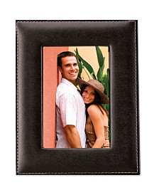 """Lawrence Frames Black Leather Picture Frame - 8"""" x 10"""""""